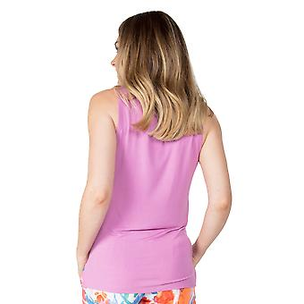 Cyberjammies Aimee 4834 Dames Aubergine Modal Vest Pyjama Top