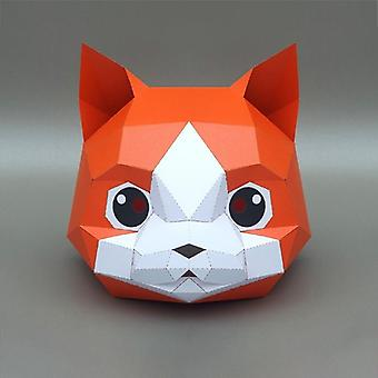 3d Paper Mask Fashion Animal And Game