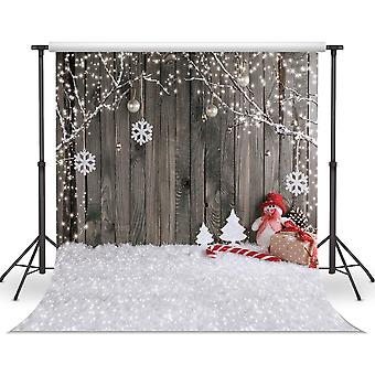 Lywygg 10x10ft christmas background christmas backdrop snow floor photo backgrounds wooden wall phot