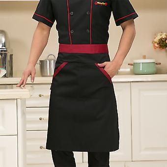 Single-breasted Kitchen Chef Uniforms, Short Sleeve, Bakery, Cafe Jackets &