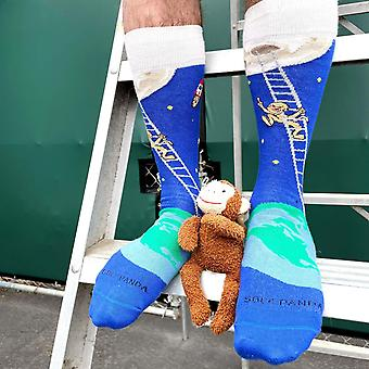 It is Good to Dream - Monkey Climbing Ladder to the Moon Socks from the Sock Panda