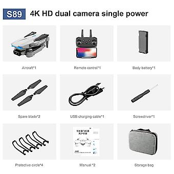 S89 प्रोफेशनल ड्रोन 4k वाईफाई सिग्नल ट्रांस एचडी ड्यूल कैमरा 50x जूम द्रोण आर सी क्वाडकॉप्टर के साथ लड़कों के लिए किशोर बच्चे ड्रोन उपहार