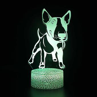 Lampy 3D z pilotem, lampa LED 16 Kolor Światło Ściemniane Przełącznik dotykowy USB / Wkład baterii, Dekoracja urodzinowa Świąteczny prezent dla dziecka Teen Woman Mężczyzna-#849