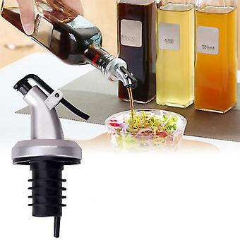 Kitchen Tools Olive Oil Sprayer Liquor Dispenser Lock Wine Pourers Flip Top Drink Wine Stopper Leak-proof Nozzle