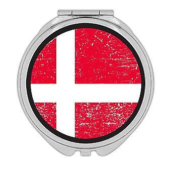 Miroir compact cadeau: Drapeau du Danemark