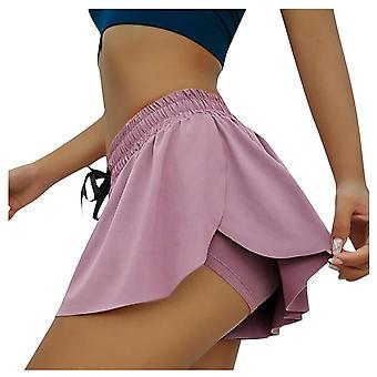 2 In 1 naiset kaksikerroksinen shortsit hame