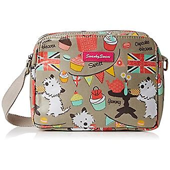 SwankySwans - Crossbody bag with 3 cupcake pockets, Grey (Grey)), One size