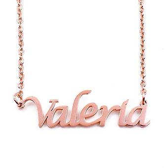 KL Kigu Valeria - Naisten kaulakoru nimellä, ruusukulta, nimi, muodikas, lahja tyttöystävälle, äidille, siskolle