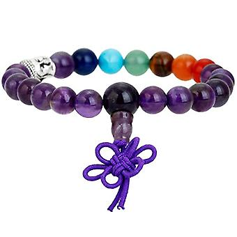 KYEYGWO 21 Mala bracelets with Chakra beads for men and women, unisex, with Reiki crystal stones and League, color: Amethyst Ref. 0715444069130