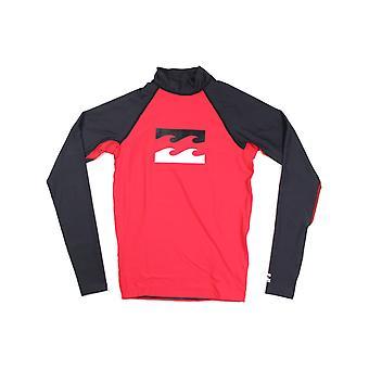 Billabong Team Wave Long Sleeve Rash Vest in Red