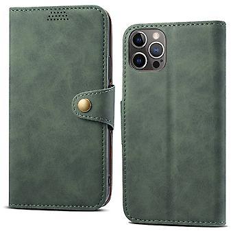 Lommebok skinnveske kortspor for iPhone 11promax 6.5 mørkegrønn no4829
