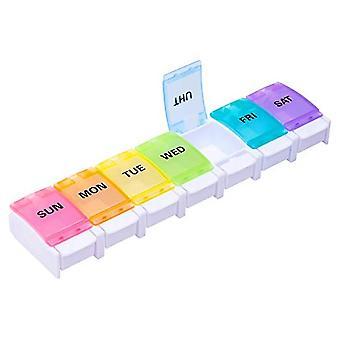 7-rutnät 7-dagars lång remsa en vecka piller arrangör Tablet Box Pillbox