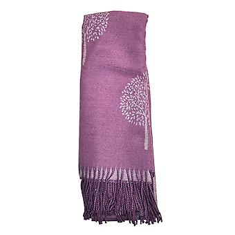Reversible Tree of Life Purple Ladies Scarf by Butterfly Fashion London