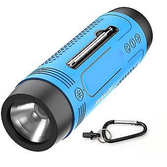 Alto-falante bluetooth multifuncional com rádio lanterna fonte de alimentação bluetooth bluetooth 5.0 portátil suporta placa USB TF AUX FM adequada para camping de bicicleta ao ar livre (Azul)