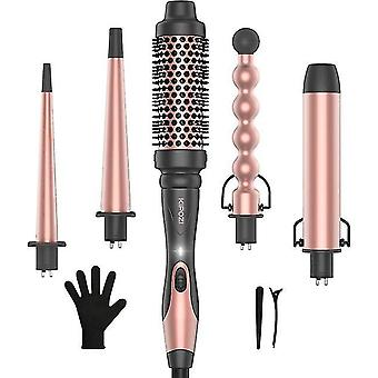 Professional Curling Iron 5-in-1 Hair Tools Instant Heating Electric Curling Iron Hot Air Brush