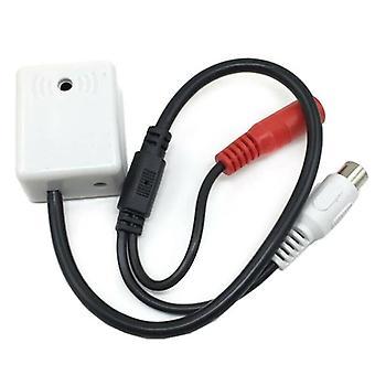 CCTV Kamera Lydmikrofoner RCA DC Høj følsomhed Gain Stick-on Mic til DVR