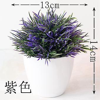 13X14cm 32heads artificial grass plants bonsai home garden bedroom balcony party decoration small potted bonsai plastic ornament