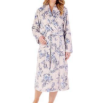 Slenderella HC88313 Blommig morgonrock för kvinnor