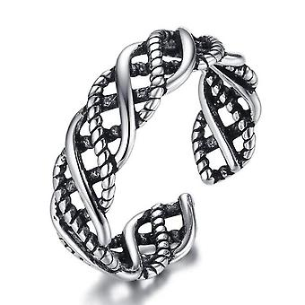 3PCS Silver plating Ring Hollow Woman Fashion Jewelry Opening Adjustable Ring