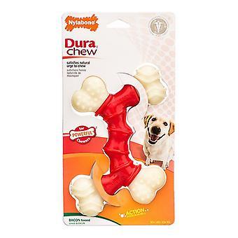 Nylabone Dura Chew Double Bone - Bacon Smak - Souper - Hundar 50+ lbs