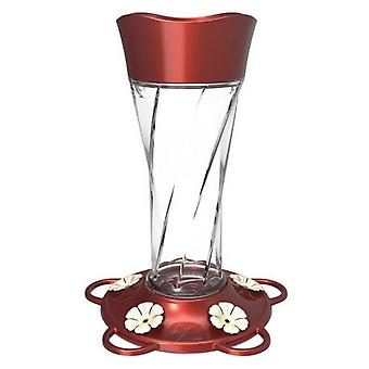More Birds Twist Glass Hummingbird Feeder - 11 oz capacity