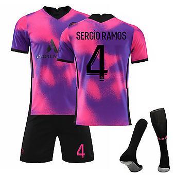 Sergio Ramos #4 Jersey 2021-2022 New Season Paris Soccer T-Shirts Jersey Set för kids youths