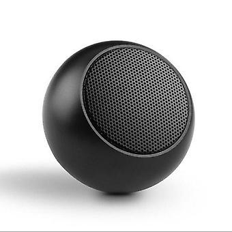 Mini Portable Wireless Bluetooth Speaker Metal  Loudspeaker With Mic Subwoofer Speakers(Black)