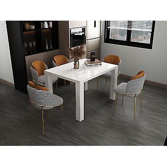 Tomasso's Olbia Dining Table - Modern - White - Mdf - 120 cm x 80 cm x 76 cm