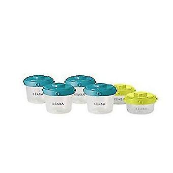 Storage tanks 1st age portions clip food storage 60-120 ml  pack of 6