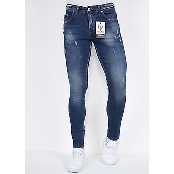Byxor med Rips Slim Fit - DPS-28 - Blå
