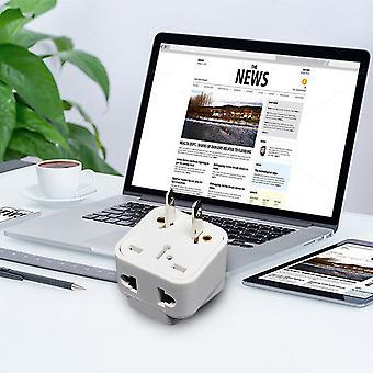 2 Pin Ac American Usa Power Plug Adapter Travel Converter Australia Uk Usa Eu