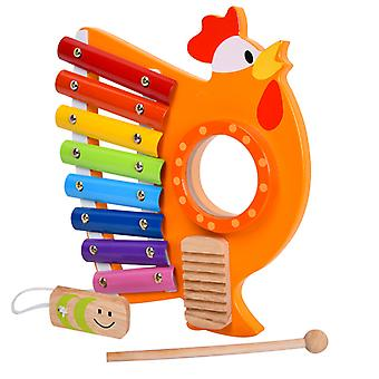Cute 8 Tone Xylophone Musical Toy Wooden Set For Toldder Intellectual Development