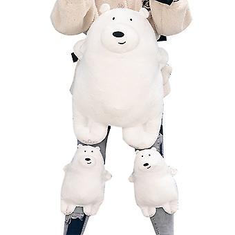 Homemiyn Cute White Bear Skiing Roller Skating Kids Anti-fall Protective Gear Set Knee Pads & Hips Pads
