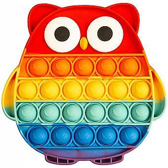 Pop It Fidget Toys Pack, Push Pop Bubble Fidget Sensory Toys, Autism Special Needs Stress Relief Silicone Pressure Relieving Toys, Squeeze Toys For Ki