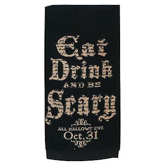 Jeść, pić i być przerażające, wszystkie Hallows Eve Halloween 26 cali kuchnia ręcznik frotte