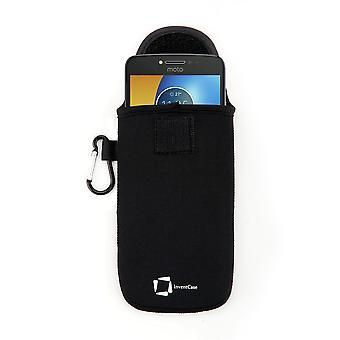 InventCase Neoprene Protective Pouch Case for Motorola Moto E4 Plus 2017 - Black