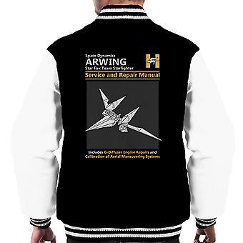 Star Fox Arwing Service And Repair Manual Men's Varsity Jacket