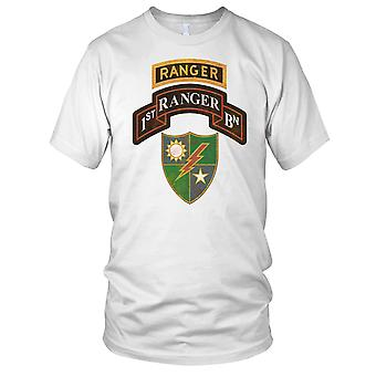 US Army 1st Battalion 75Th Ranger Regiment With Ranger Tab Decal Grunge Mens T Shirt