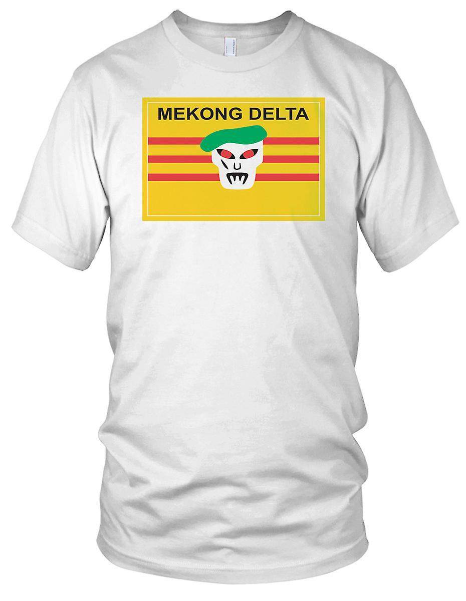 Mekong Delta grønn Beret spesialstyrker - Vietnamkrigen ren effekten Mens T-skjorte