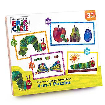 The Very Hungry Caterpillar 4-in-1 Jigsaw Puzzles (12 - 24 Pieces)