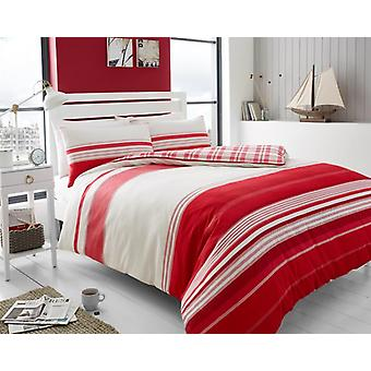 Herringbone Stripe Brushed Cotton Flannelette Duvet Cover Flannel Bedding Set