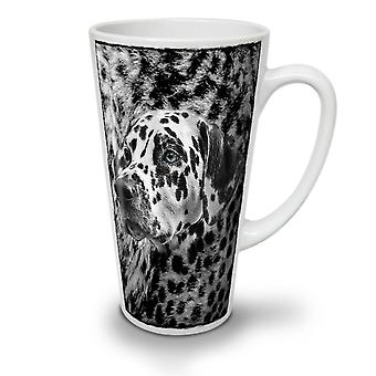 Dalmatian Dog Face NEW White Tea Coffee Ceramic Latte Mug 12 oz | Wellcoda