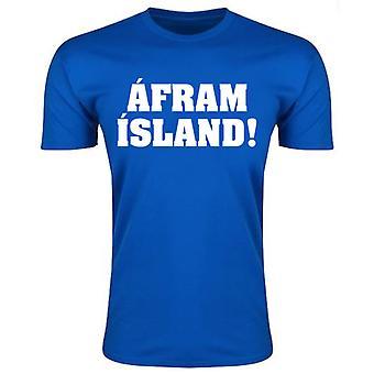 Island Afram øya t-skjorte (blå) - barn