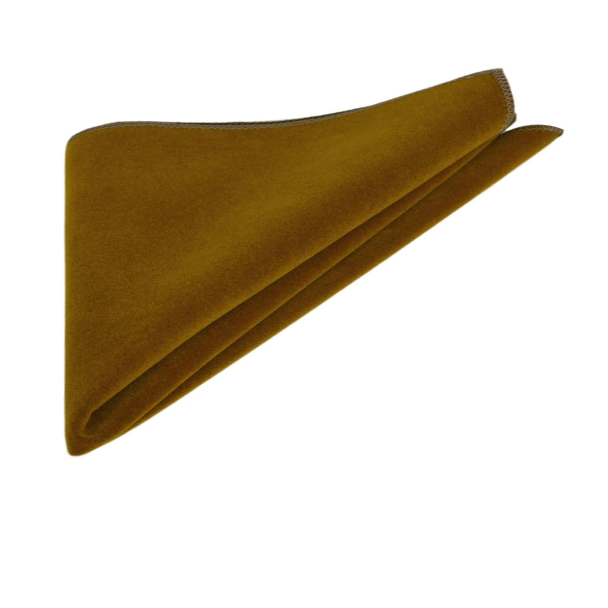 Luxury Cider Brown Velvet Bow Tie & Pocket Square Set