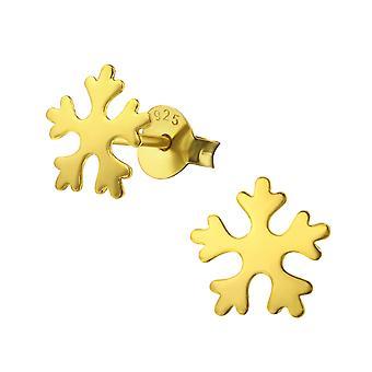 Снежинка - 925 стерлингового серебра Обычная уха шпильки - W33618x