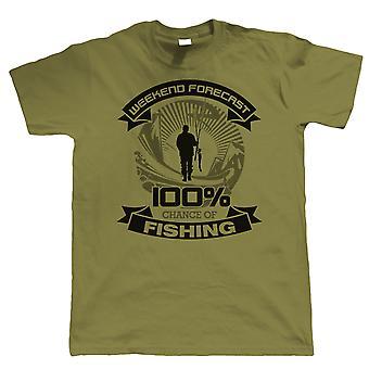Helg prognos fiske T-shirt-karp Sea fly fars dag födelsedagspresent pappa