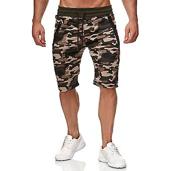 Mens Sweat Shorts Jogging Pants Camouflage Sport Fitness Trousers Waistband