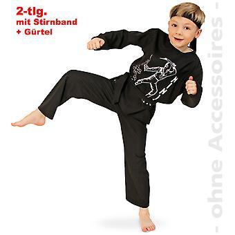 Ninja traje karatê traje crianças sombra lutador karatê lutador fantasia infantil