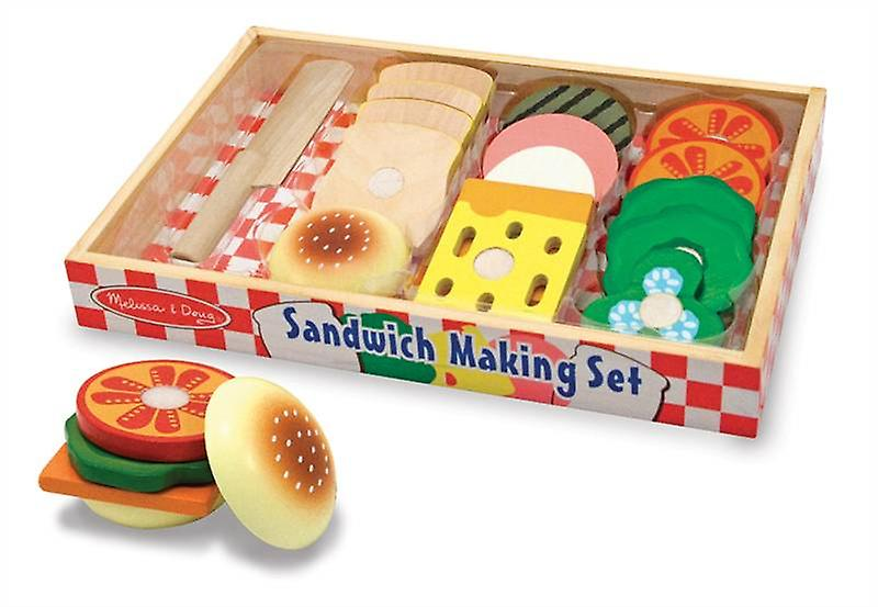 Melissa & Doug Wooden Sandwich Making set