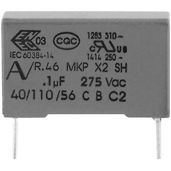 Kemet R46KI310000M1M + 1 ks (s) MKP potlačenie kondenzátora radiálneho olova 100 nF 275 V 20% 15 mm (L x š x H) 18 x 5 x 11